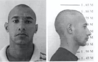 """""""Tucano"""", em imagem da ficha do sistema prisional.(Foto: Reprodução de processo)"""