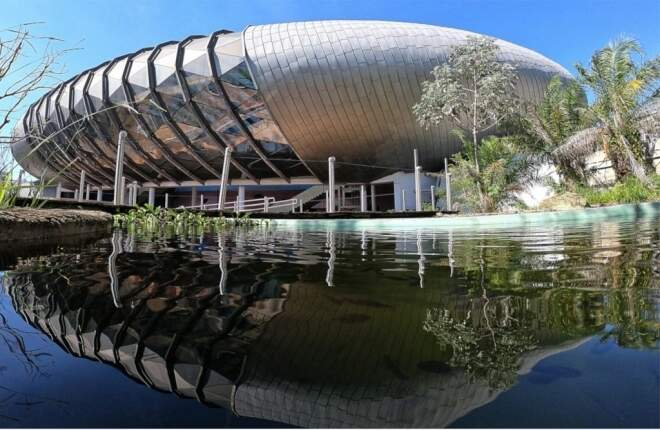 Com dificuldade para conseguir empresa que dará suporte à vida dos peixes, Aquário do Pantanal deve ser concluído só no primeiro semestre de 2022 (Foto Divulgação)