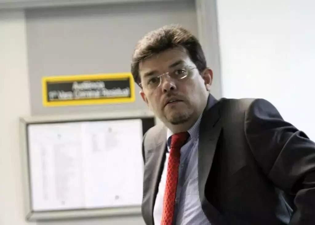 O ex-prefeito Gilmar Olarte durante audiência do processo em que acabou condenado. (Foto: Arquivo/Campo Grande News)