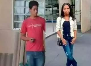 Marcos com a roupa que foi preso e Carla em foto das redes sociais. (Foto: Reprodução da internet)