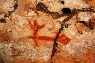 Desenhos rupestres encontrados na fazenda em Rio Verde (Foto: Divulgação/Fazenda Igrejinha)