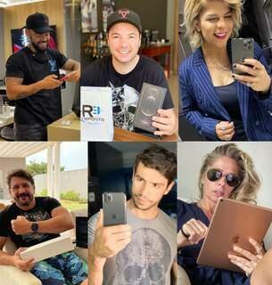Da direita para a esquerda, de cima para baixo, Thiago Brava, Vinícius, Paula Mattos, Jads, Mariano e Adriane Galisteu (Fotos: Reprodução do Instagram)