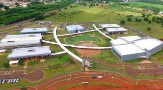 Vista aérea do campus da Uems, em Campo Grande. (Foto: Chico Ribeiro)