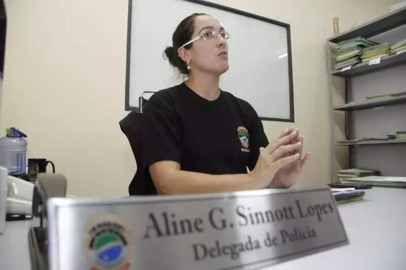 A titular da Defurv, Aline Sinnott, que deve assumir presidência de entidade da categoria. (Foto: Arquivo/Campo Grande News)
