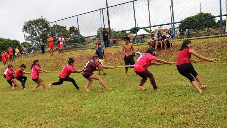 Participantes durante competição realizada na Capital (Foto: PMCG)