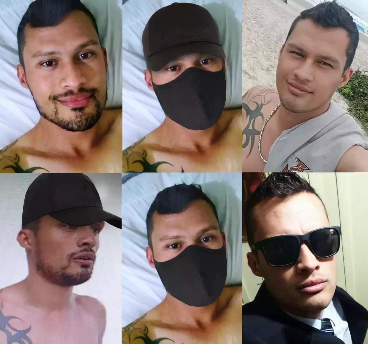 Imagens de José Tiago divulgadas pela polícia paranaense antes dele ser encontrado (Foto: PC-PR/Ascom)