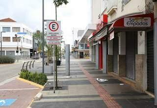 Ruas vazias durante período de restrições em Campo Grande (Foto: Paulo Francis/Arquivo)