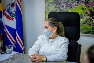 Prefeita de Jardim, Clediane Matzenbacher, quer a adoção de medidas restritivas coletivas contra a covid-19 (Foto: Divulgação)