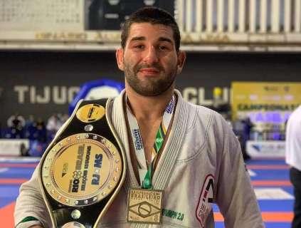 Atleta de MS garante medalha de ouro no brasileiro de jiu-jitsu