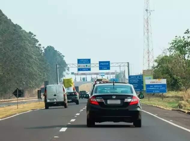 Movimentação na rodovia BR-163 (Foto: Campo Grande News/Arquivo)