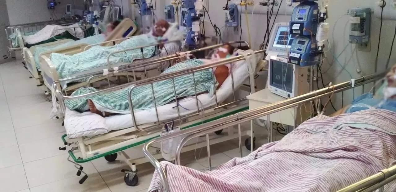 Pacientes internados em UTI do Hospital Regional de Mato Grosso do Sul, em Campo Grande (Foto: HRMS/Divulgação)
