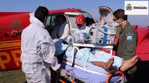 Paciente de Eldorado é o 9º de MS transferido para Rondônia