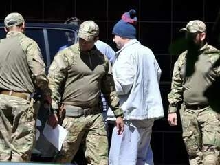 Jamil Name no dia da prisão pela operação Omertà (Foto: Valdenir Rezende/Correio do Estado)