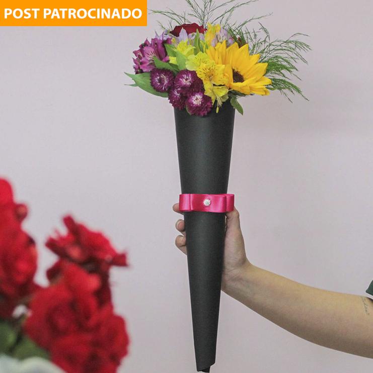 Cone de flores é um dos presentes campeão de vendas. Que tal presentear com ele no Dia dos Namorados? (Foto: Marcos Maluf)