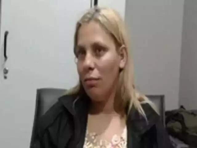 Eliane Benitez Batalha durante o depoimento à Omertà, em agosto de 2019, cujo conteúdo ela desmentiu em audiência na justiça estadual sobre a morte de Matheus Coutinho Xavier, em 2020 (Foto: Reprodução vídeo)