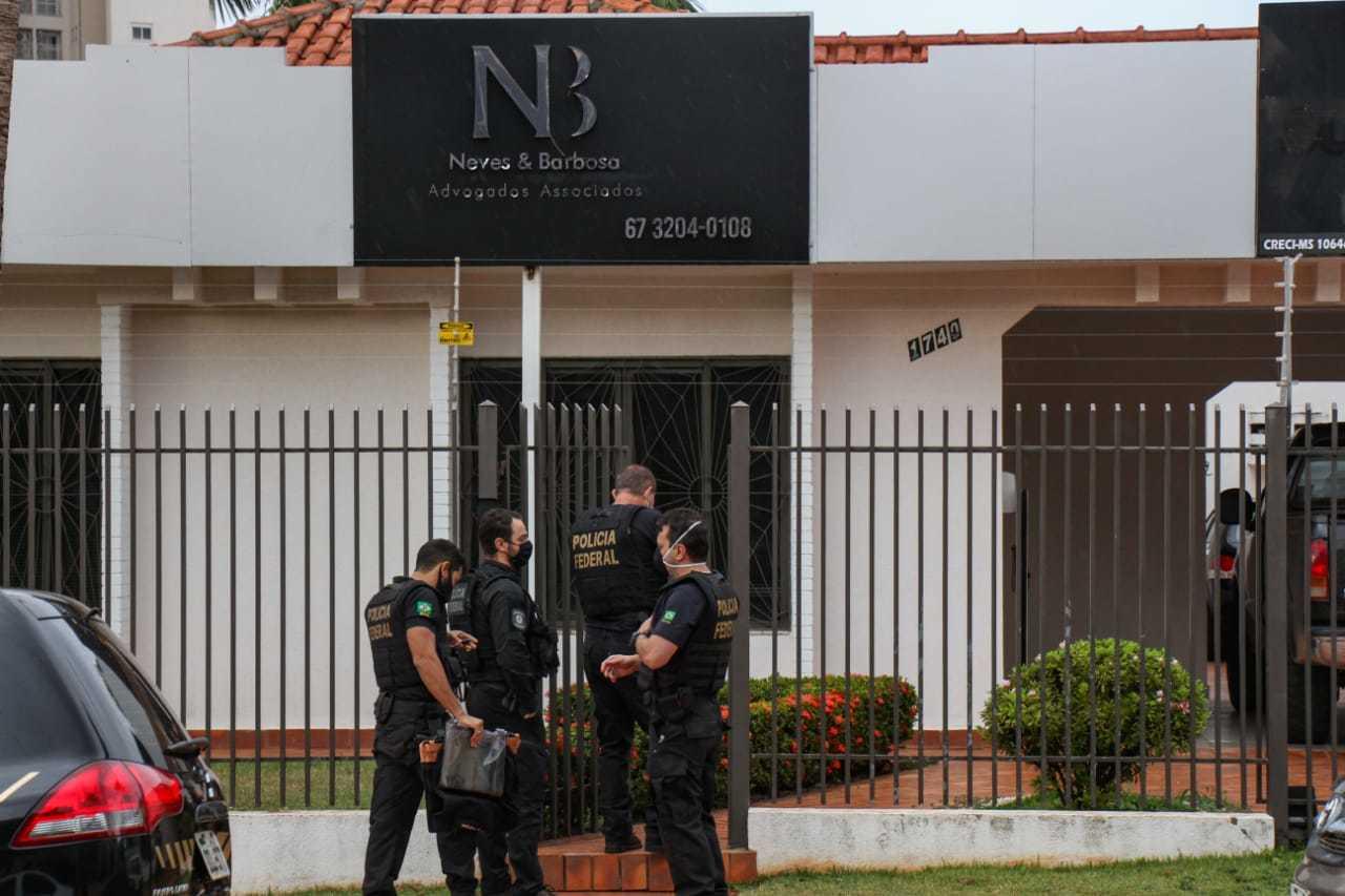 Polícia Federal cumpriu mandado Rua Manoel Inácio de Souza, sede de mineradora e escritório. (Henrique Kawaminami)