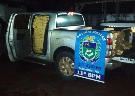 Após perseguição em rodovia, dupla é presa com 1,6 tonelada de maconha em Ranger