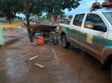 Polícia Ambiental prende e multa 3 homens por pesca predatória no Rio Ivinhema