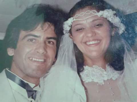 Sebastião e Rosana se casaram em fevereiro de 1988, e continuaram trocando cartas. (Foto: Arquivo Pessoal)