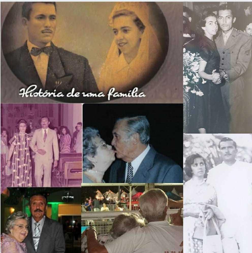 Montagem enviada por Cid Antunes da Costa que exibe momentos ao lado da eterna namora Luiza.