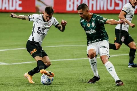 Palmeiras sai na frente, mas recua e sofre o empate do Corinthians