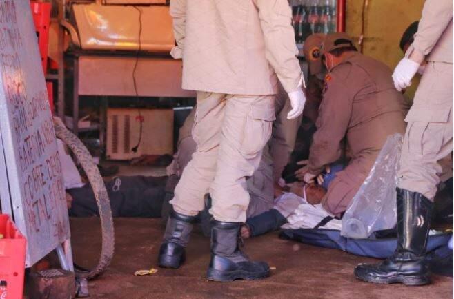 Antônio Borges da Silva, 75 anos faleceu após 30 minutos de manobra de reanimação do Corpo de Bombeiros (Foto Paulo Francis)