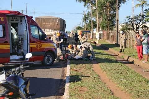 Ciclista morre na Santa Casa depois de acidente envolvendo caminhão