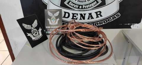 Fugitivo, traficante é preso com 18 quilos de fios de cobre e pasta-base