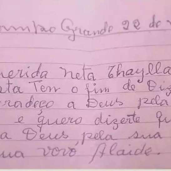 Antes de morrer, Alaíde deixou bilhete de amor para neta encontrar