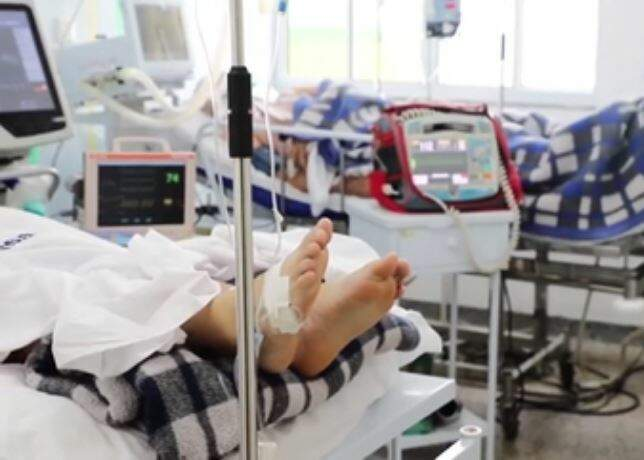 Paciente internado com covid-19 em hospital do Estado (Foto: Reprodução)