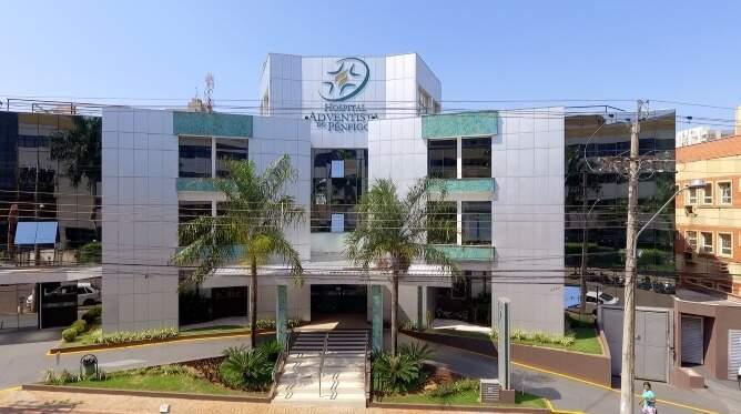 Fachada do Hospital Adventista do Pênfigo, unidade Centro em Campo Grande. (Foto: Divulgação)