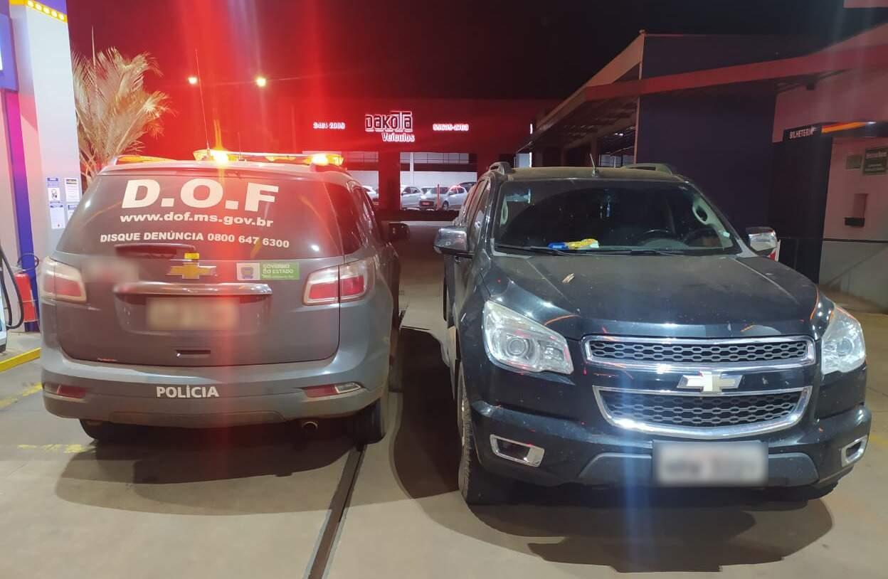 Caminhonete S10 roubada em Naviraí foi apreendida pelo DOF em Amambai (Foto: Divulgação)