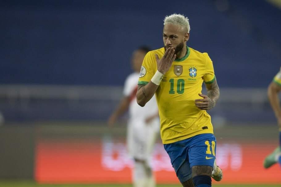 Neymar foi um dos destaques da partida. (Foto: Lucas Figueiredo/CBF)