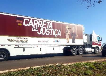 Carreta da Justiça estaciona em duas cidades na próxima semana