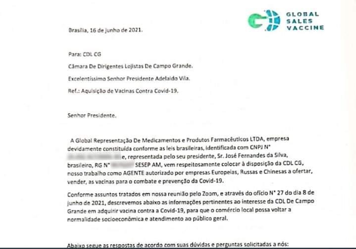 Comunicado da Global aos questionamentos da CDL após reunião, este mês (Foto/Reprodução)