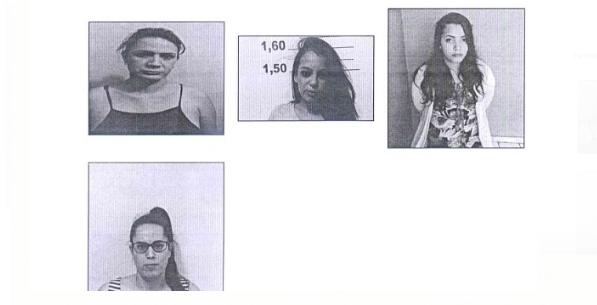 Fotos anexadas ao auto de prisão em flagrante mostram a transformação de Giovana (Imagem: reprodução / auto de prisão em flagrante)