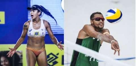 Dois atletas representam MS em competição nacional de vôlei de praia