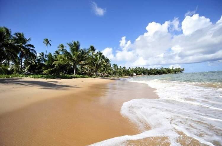 Pesquisa diz que brasileiros vão viajar mais no segundo semestre e que a preferência será por lugares sem aglomeração (Foto: Praia em Salvador/Reprodução)