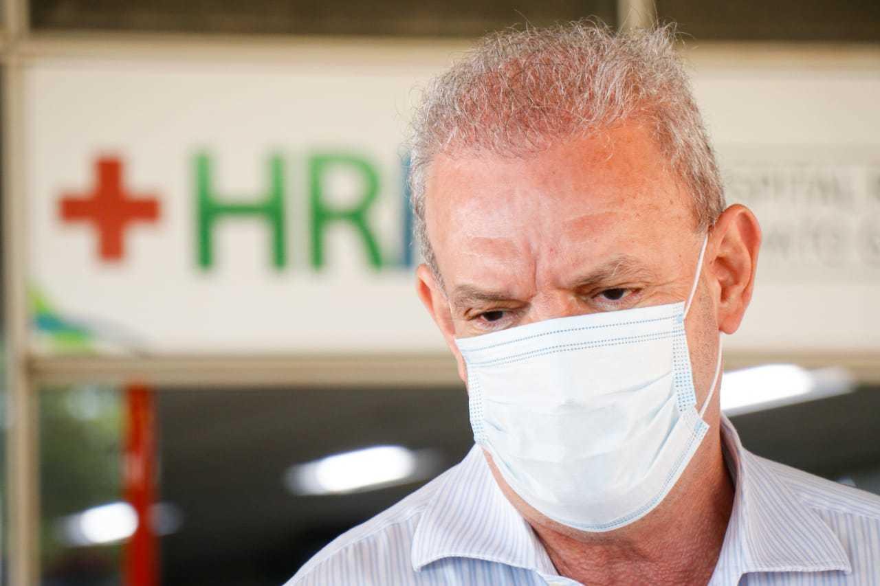 Secretário Geraldo Resende em evento em maio no Hospital Regional. (Foto: Arquivo)
