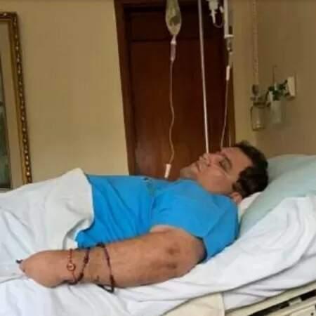 Dom Pulo durante internação em outra ocasião; defesa alega que ele tem vários problemas de saúde e precisa ir para hospital (Foto: Uol/Reprodução)