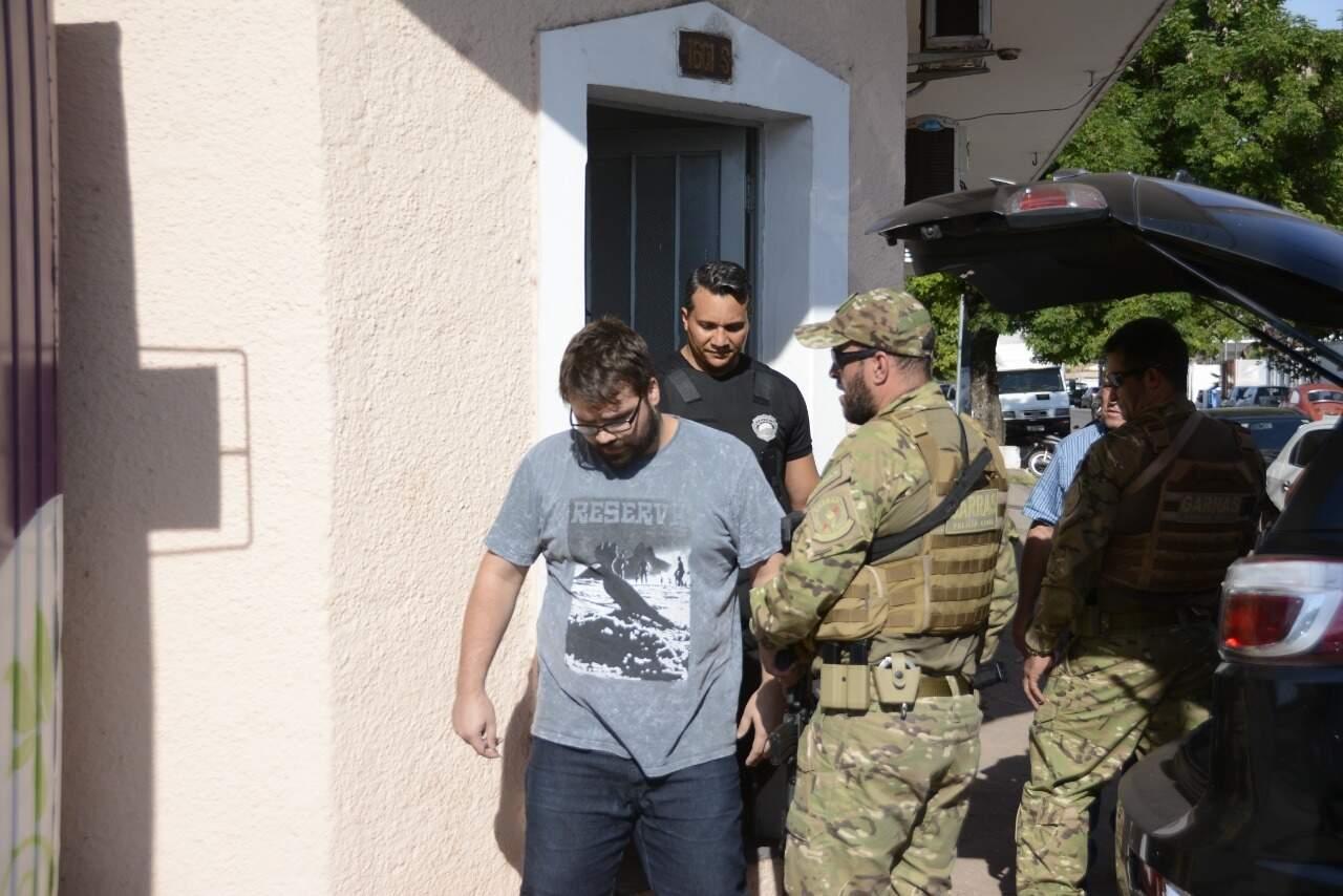 Emmanuel Contis quando foi preso em março de 2019. (Foto: Arquivo/Diário Corumbaense)
