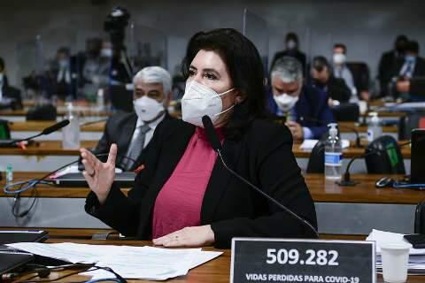Simone Tebet quer acareação coletiva em nova fase da CPI da Covid