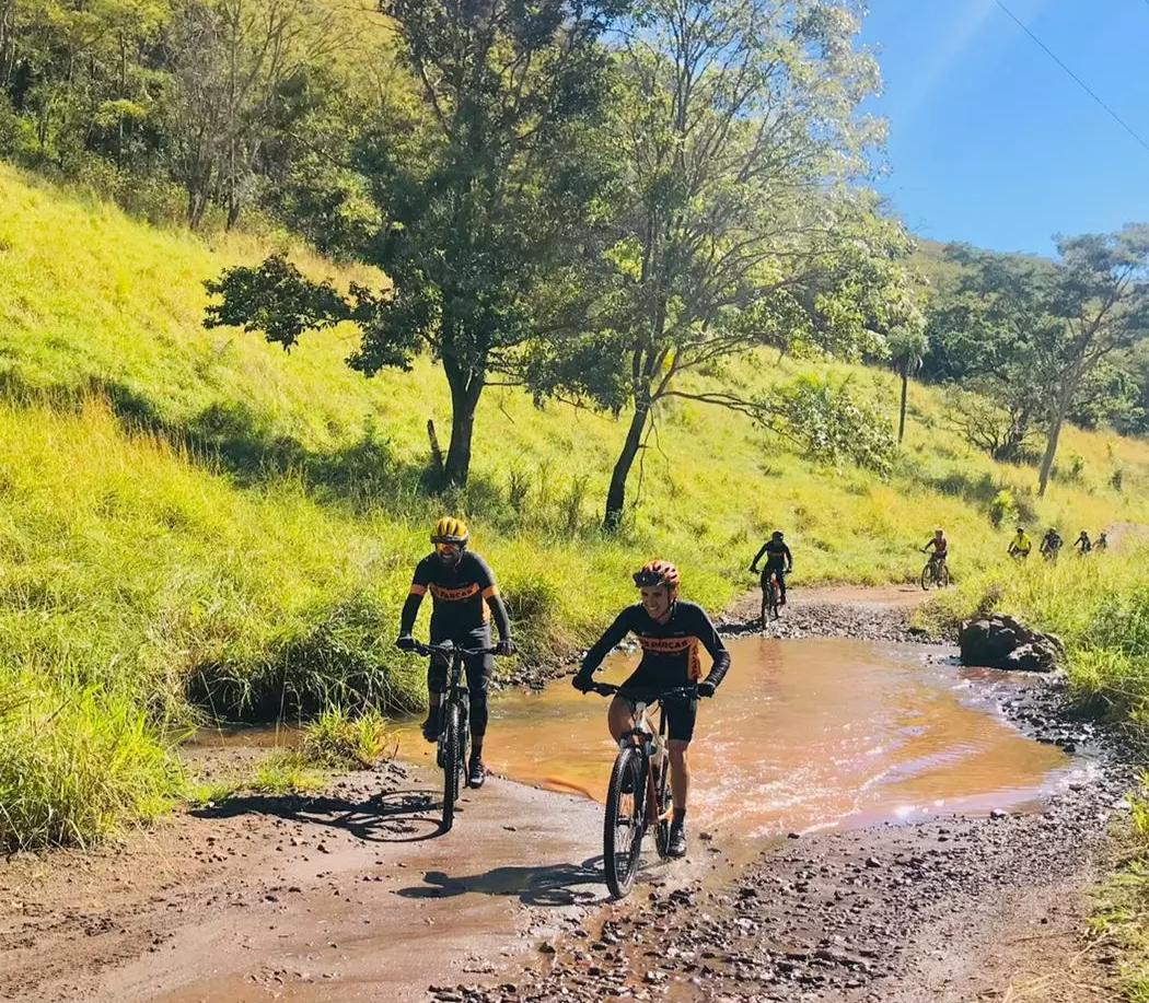 São aproximadamente 35 km de pedalada (Foto: Divulgação/Os Parças Pedal Clube)
