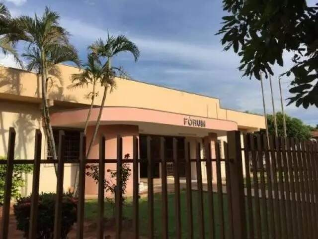 Fachada do Fórum de Cassilândia, onde tramitou processo (Foto: TJMS/Divulgação)
