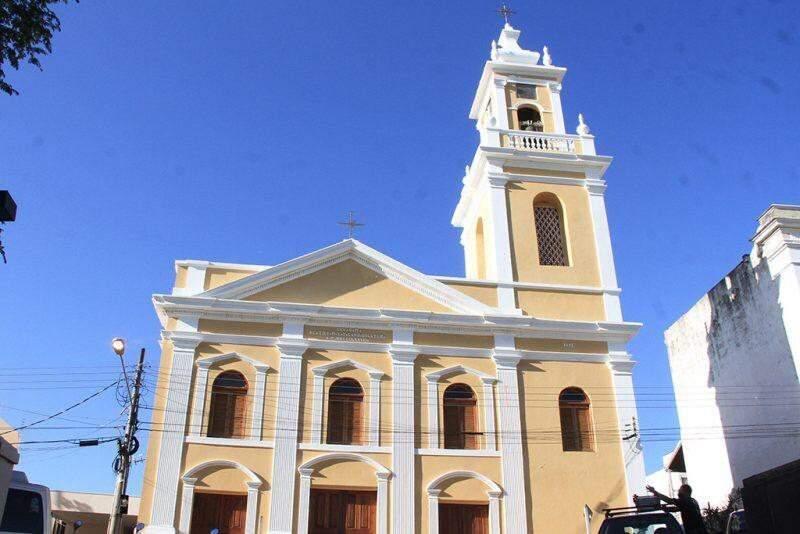 Catedral é um dos principais prédios históricos de Corumbá. (Foto: Gisele Ribeiro)