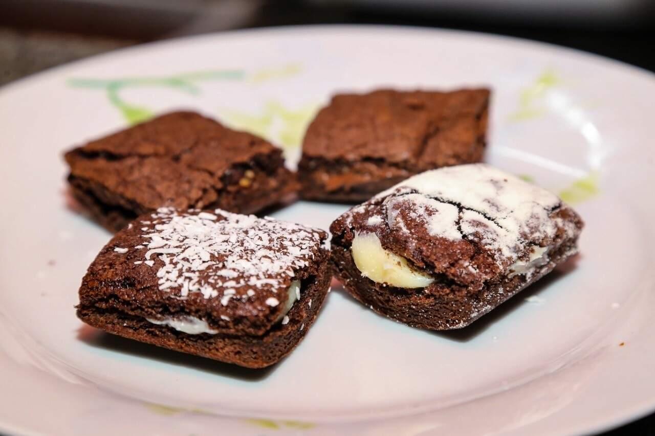 São vários recheios, entre eles: nutella, maracujá e morango (Foto: Kísie Ainoã)