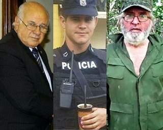 Oscar Denis, Edelio Morinigo e Félix Urbieta, que estão em poder de guerrilheiros (Foto: ABC Color)