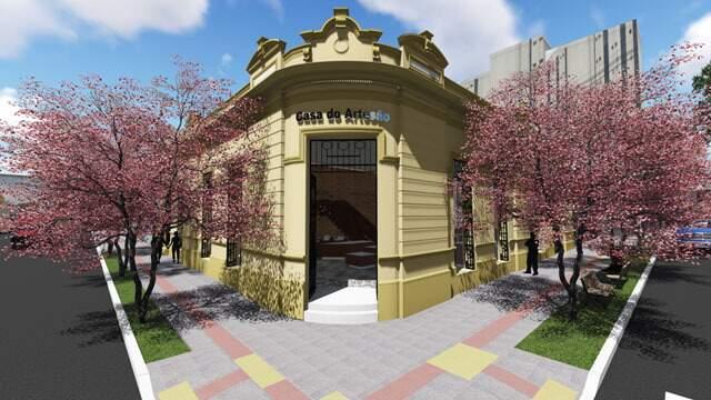 Imagens do projeto: revitalização vai alcançar também calçada do cruzamento.
