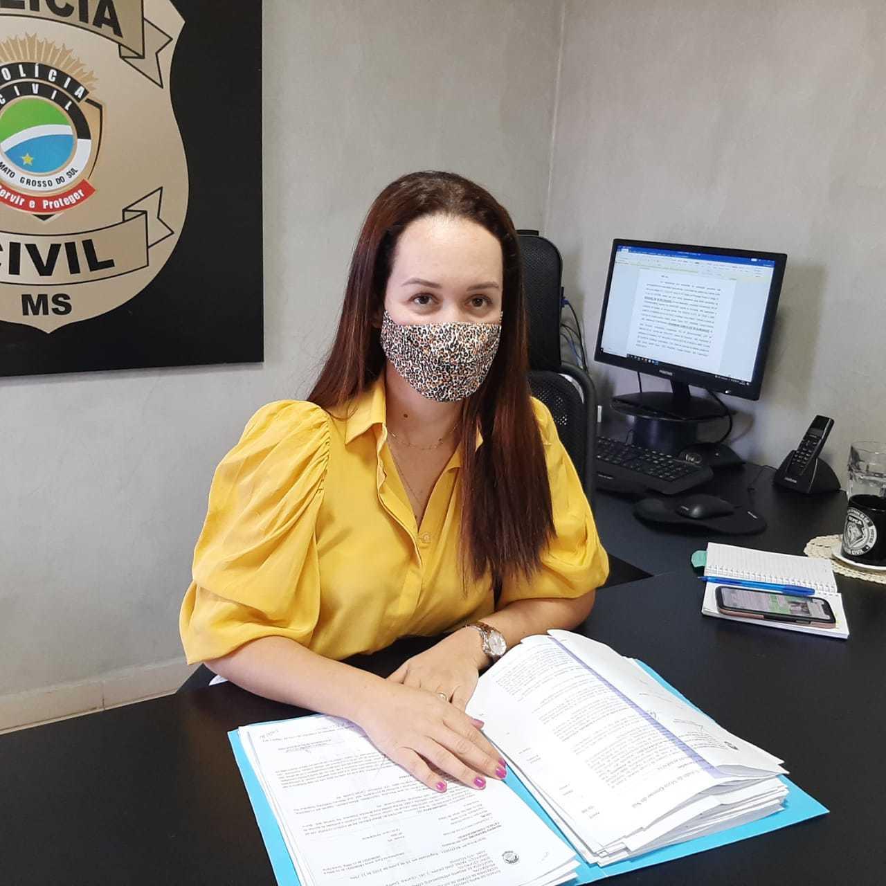 Delegada Franciele Candotti Santana, responsável pela caso (Foto: Ana Beatriz Rodrigues)