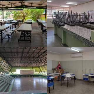UEMS divulgou fotos da visita técnica feita em escola. Local conta com 16 salas no total. (Foto: Divulgação/UEMS)